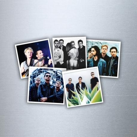 "Set 5 Magnets ""Depeche Mode"""