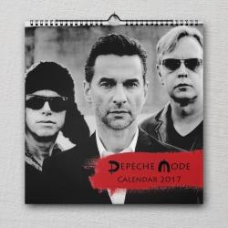 """SALE: Wall calendar Depeche Mode 2017 """"Spirit"""""""