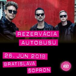 Autobus: Bratislava - koncert Depeche Mode Šopron 26.6.2018