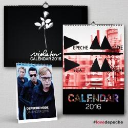Kalendáre Depeche Mode 2016 (sada A3 + A5)