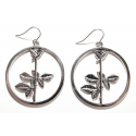 Earring Depeche Mode Violator Rose [silver]