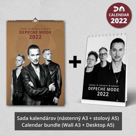 Sada kalendárov Depeche Mode 2022 (nástenný + stolový)