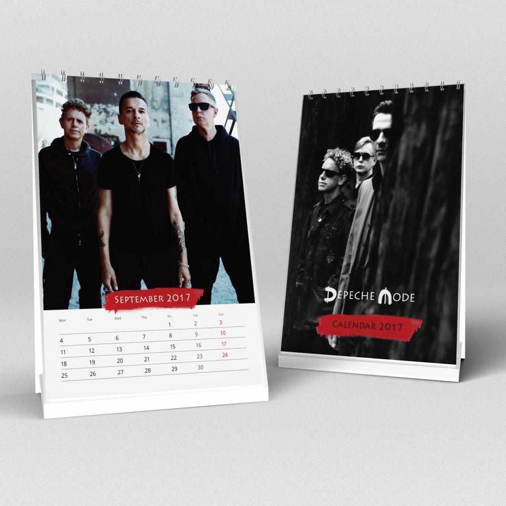 VÝPREDAJ: Stolový kalendár Depeche Mode 2017 (A5)