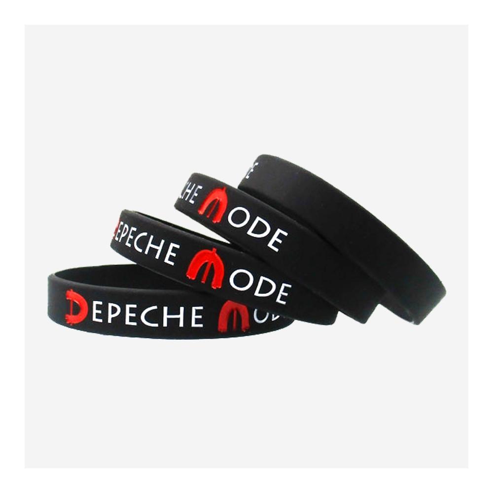 Čierny silikónový náramok Depeche Mode