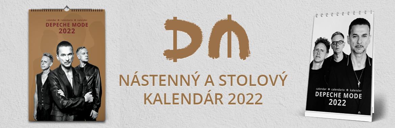 Nástenný a stolový kalendár Depeche Mode 2022
